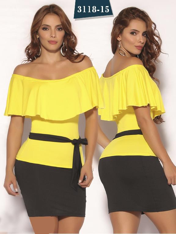 3aafca36e Vestido Moda Colombiano Cereza