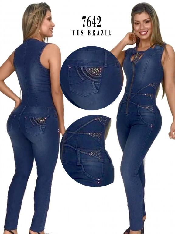 Yes Brazil Colombian Butt Lift Jean Jumpsuit Enterizo Colombiano 7382